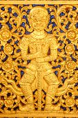 picture of vihara  - A beautiful golden giant in Thai Buddhist temple - JPG