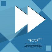 multimedia control. Flat modern web design on a flat geometric abstract background