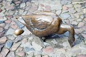 Wroclaw. Goose With An Egg