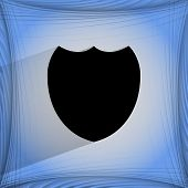 Shield protection. Flat modern web design on a flat geometric abstract background