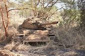 Northern Sudanese tank destroyed in civil war in South Sudan