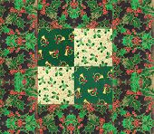 stock photo of quilt  - arrangement of festive quilt design for Christmas - JPG
