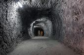 picture of salt mine  - Tunnel in salt mine from Praid Romania - JPG