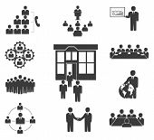 Business People. Office Icons, Conference