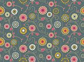 Floral Textile Seamless Pattern