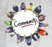 Diverse People in a Circle with Community Concept
