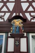 MILTENBERG, GERMANY - 20 JULY: Holy Family, statue on the main street of Miltenberg in Lower Francon