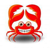 Red Crab Cartoon with smile