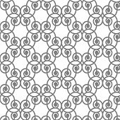 Abstract Lines Curve Tiles Monochrome Seamless Pattern Vector Background