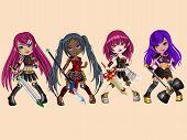 Warrior Doll Girls