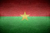 Closeup Screen Burkina Faso Flag Concept On Pvc Leather For Background