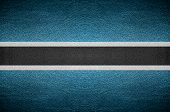 Closeup Screen Botswana And Herzegovina Flag Concept On Pvc Leather For Background