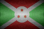 Closeup Screen Burundi Flag Concept On Pvc Leather For Background