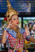 Thai Traditional Dance at Erawan Shrine in Bangkok