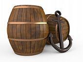 Anchor And Barrels, 3D