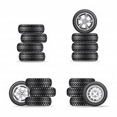 set of tires for cars
