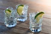 Tequila With Ice And Lime