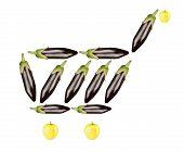 eggplant shopping cart