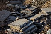 Concrete Blocks And Piles