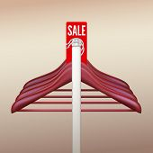 Clothes hangers with a sign Sale