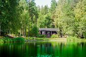 Old Finnish Summer Cottage At A Lake