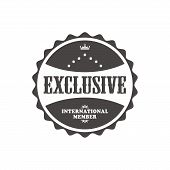 exclusive label sticker