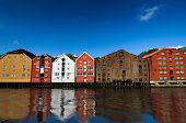 Houses on the water, Trondheim, Norway