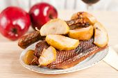 Roast Goose With Apple