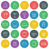 Vector Food Icons Set. For Web Site Design And Mobile Apps.