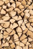 Stack Of Firewood - A Natural Vertical Background