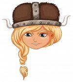 Illustration of a girl viking