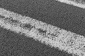 White Road Marking