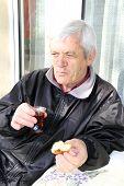 man drinking turkish tea