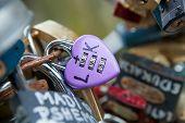 Heart shaped vintage love lock