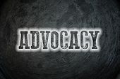 Advocacy Blackboard Concept