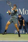 welve times Grand Slam champion Rafael Nadal during second round match at US Open 2013