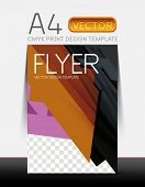 Abstract modern flyer brochure vector design template with sample text or business A4 booklet cover