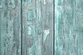 Turquoise Or Mint Green Wooden Old Patterned Background In Vintage Style.