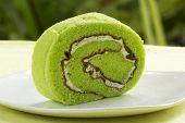 Slice Roll Pandan Flavored Cake