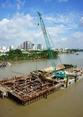 Construction Site On Saigon River