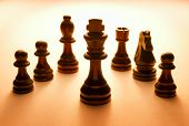 Wooden Black Chess Pieces Set