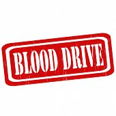 picture of blood drive  - Grunge rubber stamp with text Blood Drive - JPG