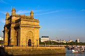 picture of british bombay  - Gateway of India at sunset in Mumbai - JPG