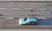 Car and street from above.