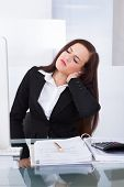 Tax Consultant Suffering From Neck Pain