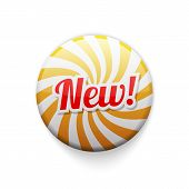 Glossy Badge With Spiral And Text New
