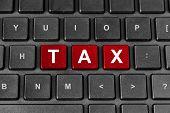 Tax Word On Keyboard