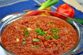 Beef Chili With Spicy Hot Peppers