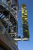 BROOKLYN, NY - DECEMBER 18:  Signage at the entrance to the Astroland Cyclone Rollercoaster is shown