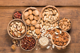 stock photo of pine nut  - mixed nuts  - JPG